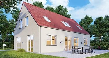 1½-plans-længehus